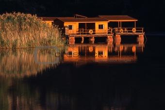 Floating holiday cottage