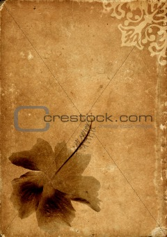 Vintage card with flower