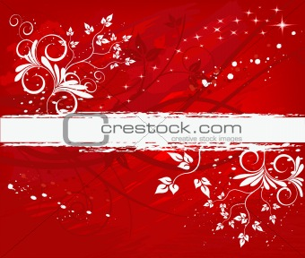 Grunge floral background in design, vector illustration