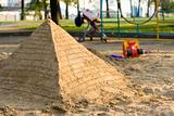 Pyramid of sand