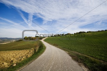 Countryside road, Umbria