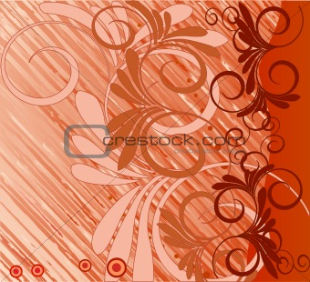 Abstract  artistic  floral background - vector
