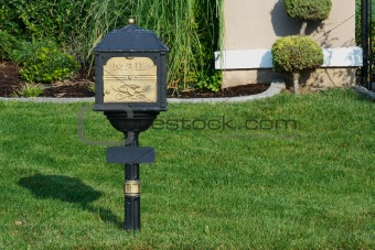 Classic Mailbox on Lush Green Grass