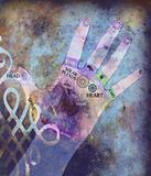Chakra hand - healing energy