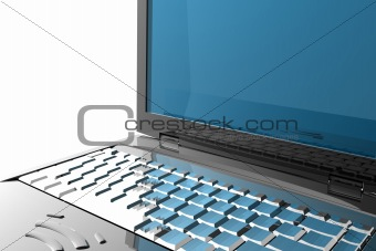3d laptop - techno concept