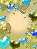golden hearts background