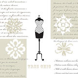 Wrote iron French Dress Form