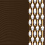 Diamond and gold decoration. Postcard. Vector.