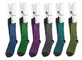 Row of socks on pegs