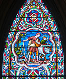 The Sower stained glass window