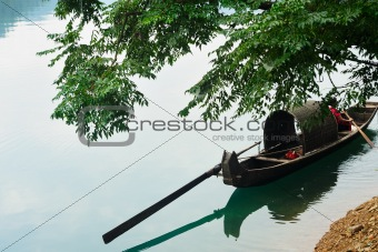 Fishing boat on the river