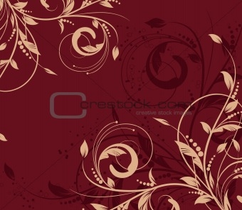 floral creative decorative abstract background