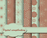 set of vector paper for scrapbook