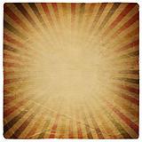 Square shaped sunburst ornate paper sheet. Isolated on white.