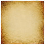 vintage square shaped paper sheet. Isolated on white.