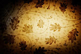Vintage background with floral patterns.