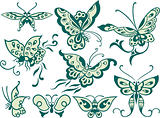 fancy butterfly design