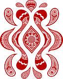 victorian fashion paisley doodle