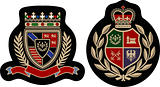 fashion emblem college badge