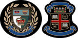 classic college royal badge