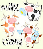 Vector collection of funny cows