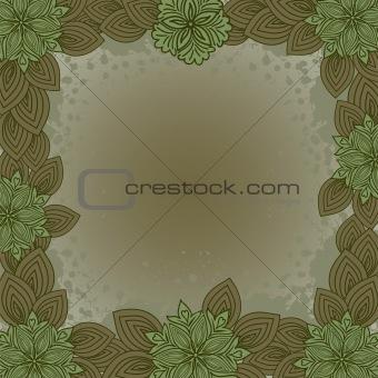 Old floral frame