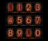 Vector nixie tube with digits