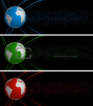 Abstract global banners
