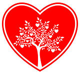 heart tree in heart
