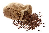 Coffee in a sack