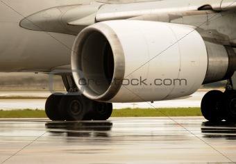 Jet engine closeup