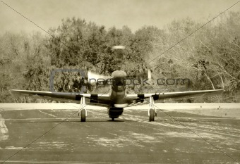 Old fighter airplane