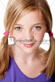 Beauty face of  teenager girl