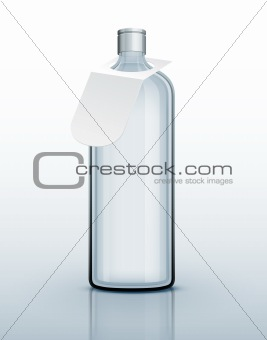 Template of glass bottle for hard drink
