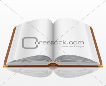 open book with isolated on white