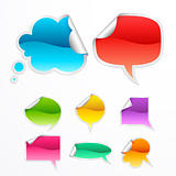 Set of colorful bubbles for speech