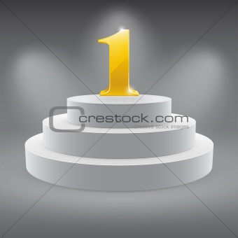 3d isolated Empty white podium