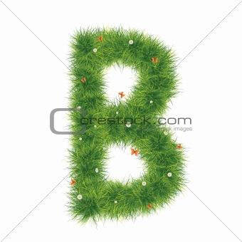 Alphabet_Grass_B_