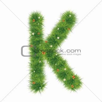 Alphabet_Grass_K_