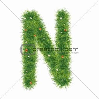 Alphabet_Grass_N