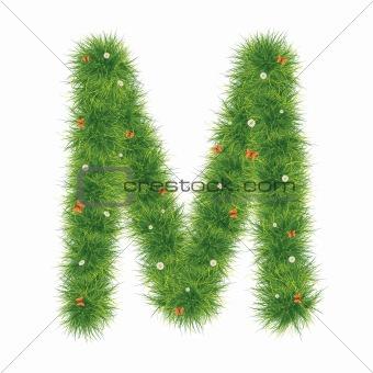 Alphabet_Grass_M_