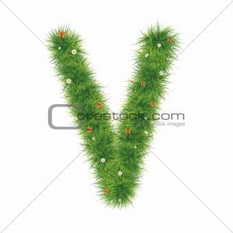 Alphabet_Grass_V_