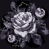 Vintage monochrome rose