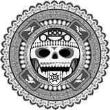 stylized deity of aztec