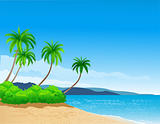 Tropical beach background