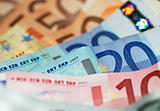 Macro Shot Of Euro Banknotes Focus On 20?