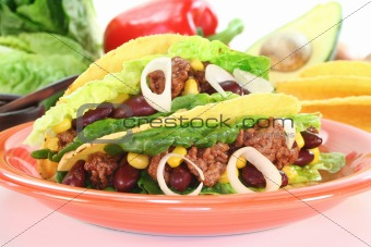 Mexican tacos with ground beef