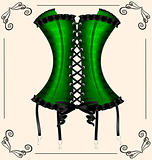 lady's green corset