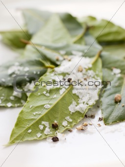 Bay Leaves With Sea Salt
