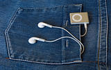 MP3 music player and headphones
